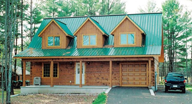 Ideal Roofing Pocket Rib Metal Roofing in Green