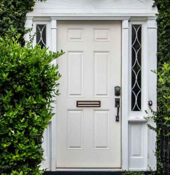 4 Panel Wardco Steel Entry Door, White